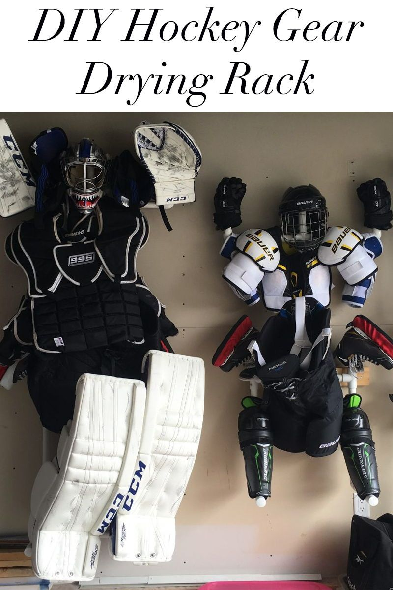 Hockey Gear Drying Stand Styled To Sparkle Hockey Equipment Hockey Gear Hockey Equipment Drying Rack