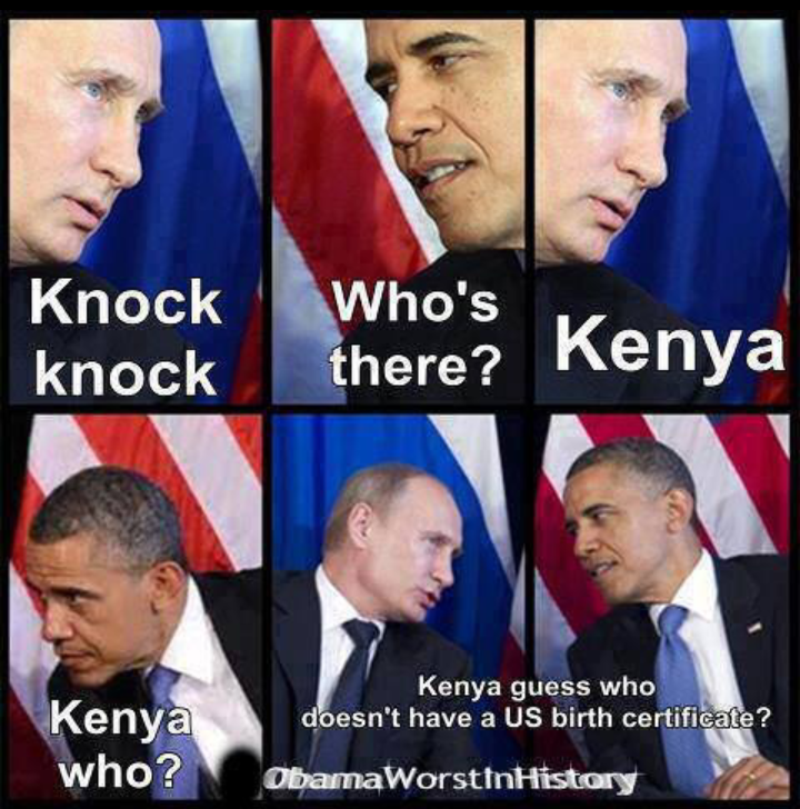90 Miles From Tyranny Knock Knock Joke With Putin And Obama