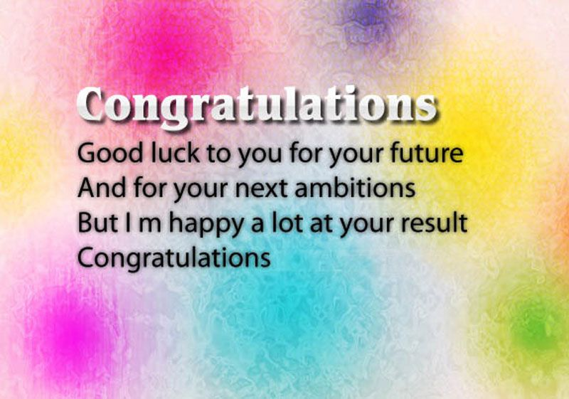 congratulations messages for good results | Congratulations