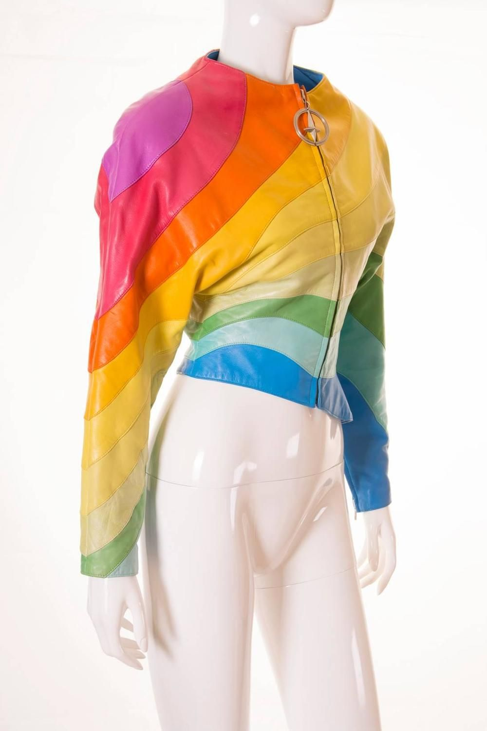 3803c06dba05 S/S 1990 Thierry Mugler Rainbow Leather Jacket | From a collection of rare  vintage