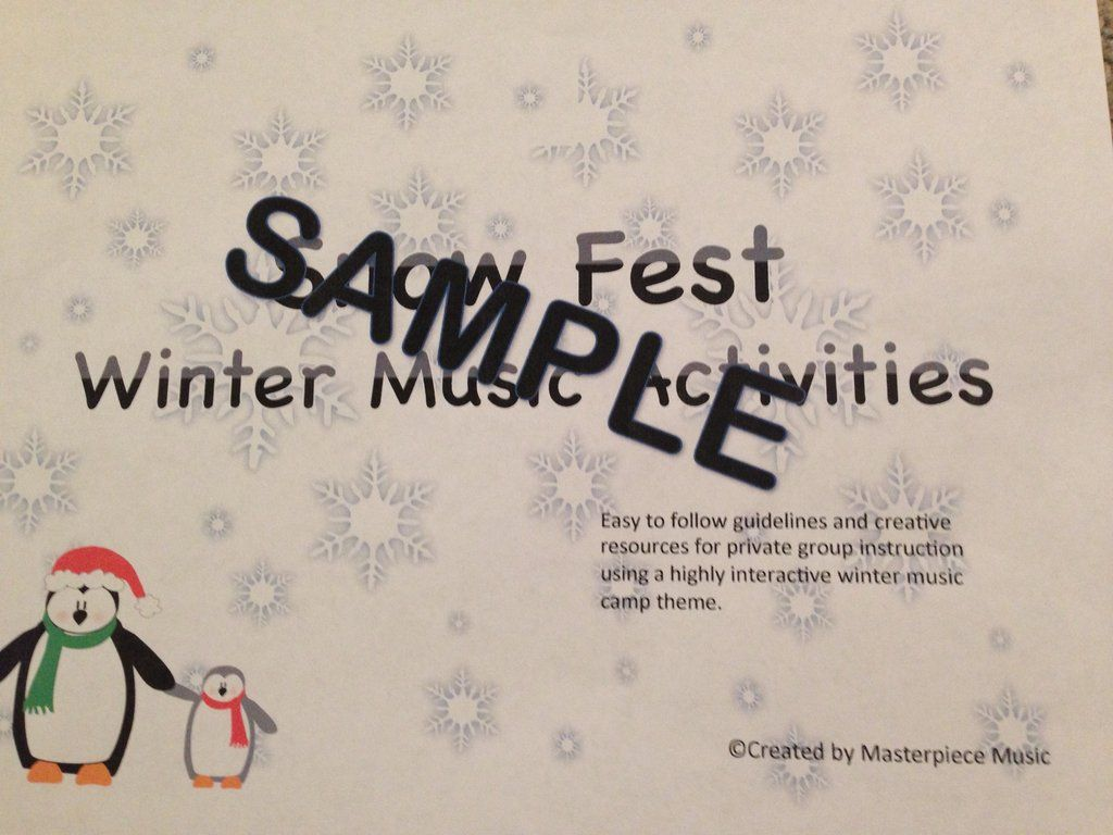 Snow Fest Winter Camp Manual With Images