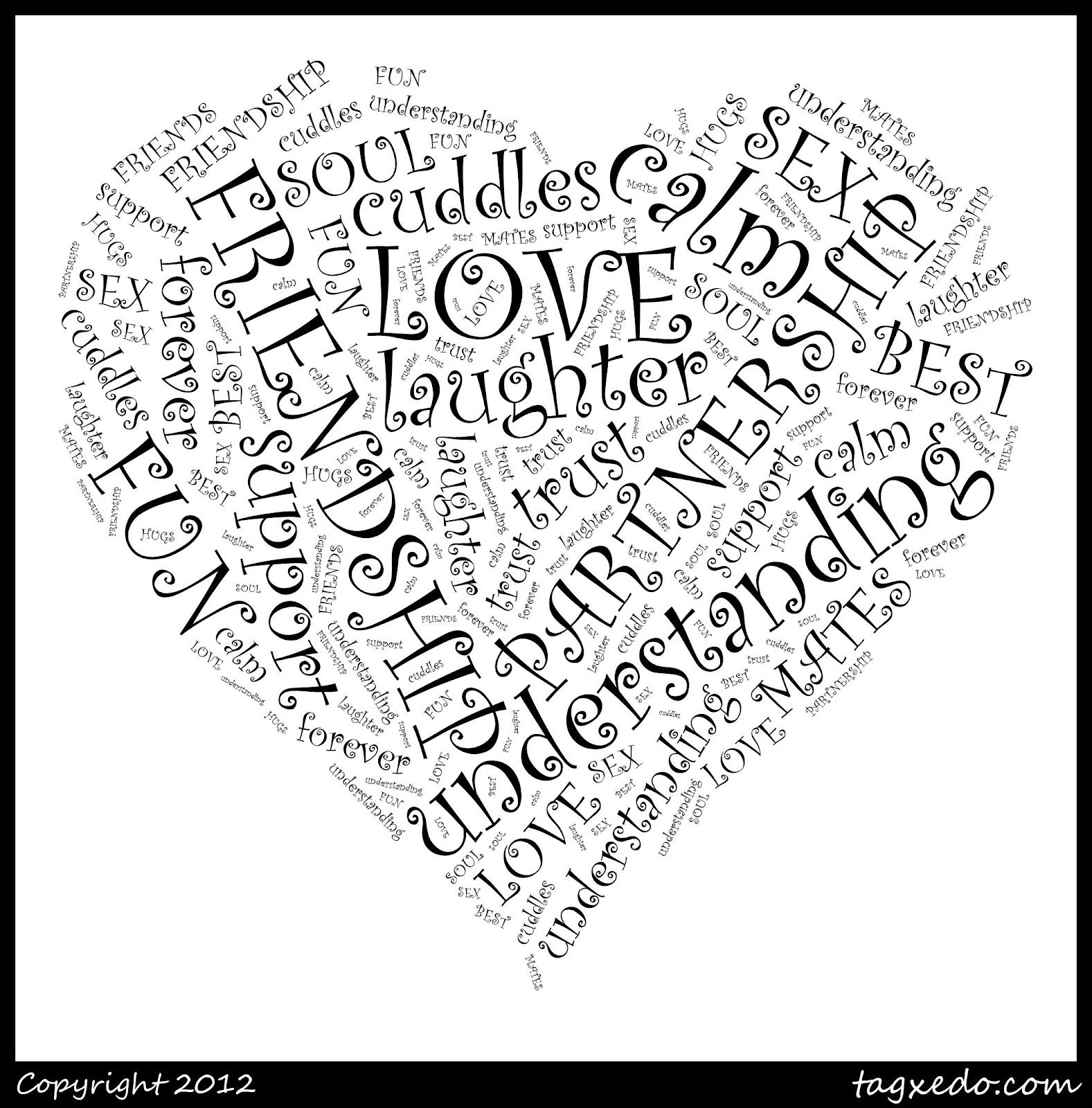 How To Make Personalised Word Art Pictures Love Heart