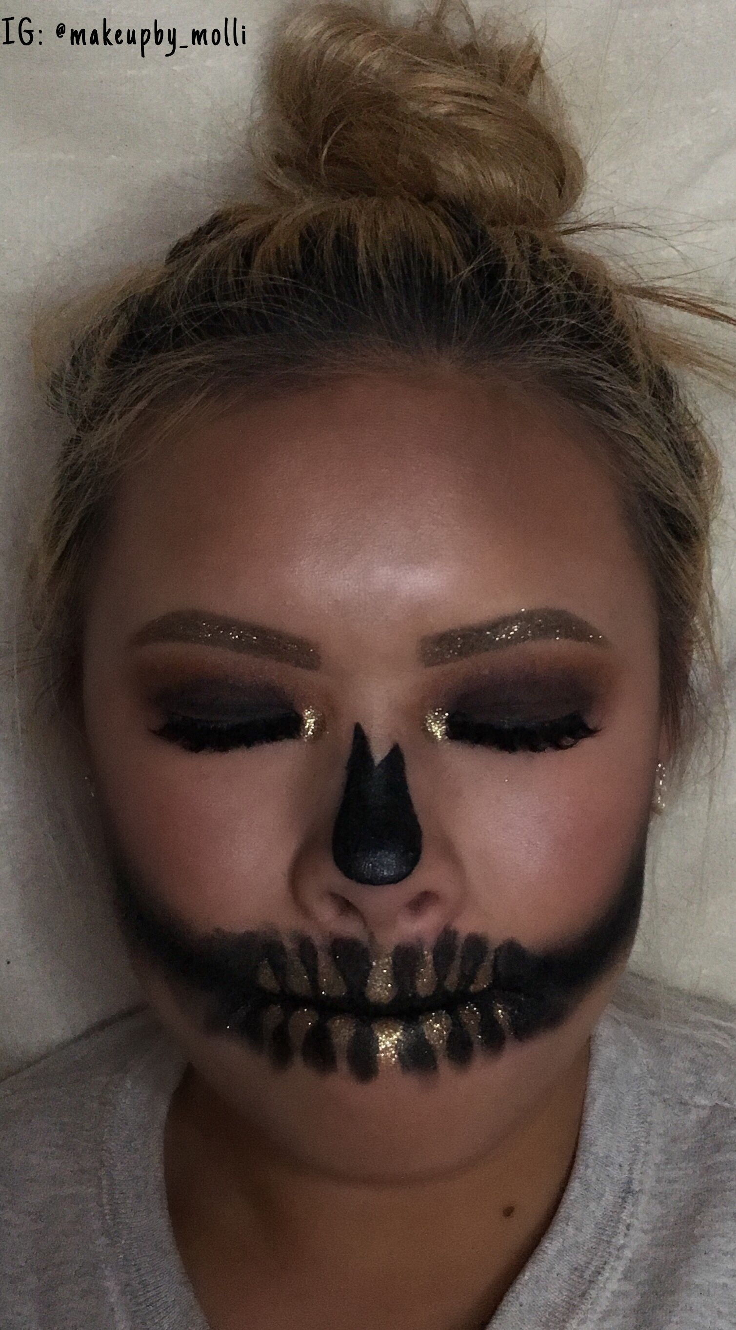 MUA image by Molli Karczewski Halloween face makeup