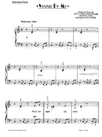 Stand By Me Ben E King Stave Preview 1 Piano Sheet Music Piano