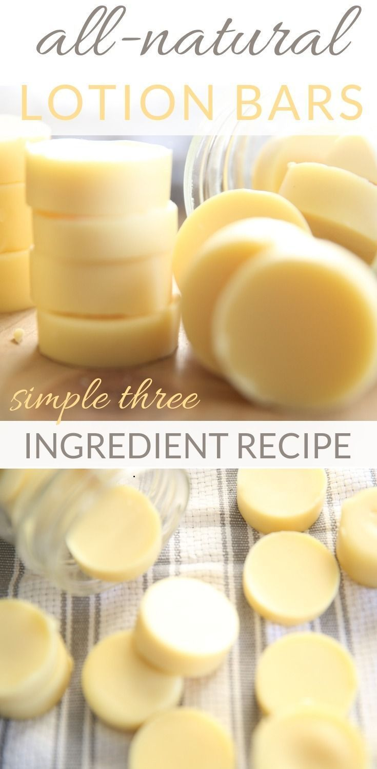The Easiest Homemade Lotion Bars with Essential Oils #homemadefacelotion