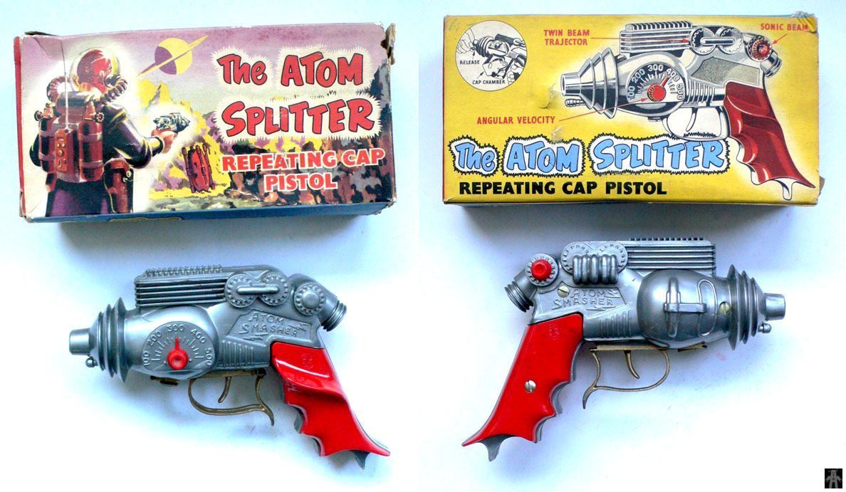 THE ATOM SPLITTER REPEATING CAP PISTOL - KELO - ENGLAND