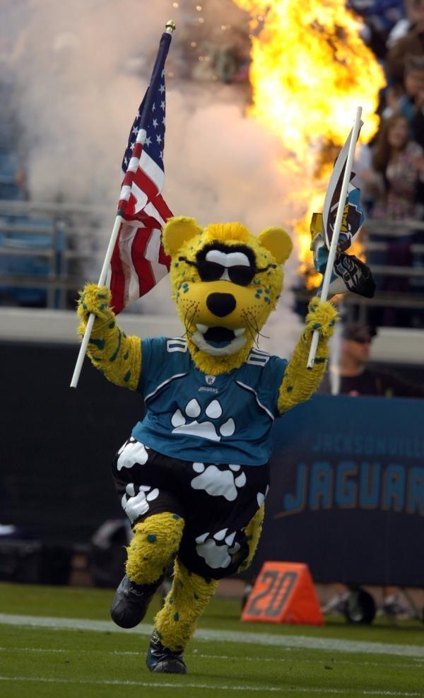 6ef7d4aab Jacksonville Jaguars mascot Jaxson rocks some nice shorts