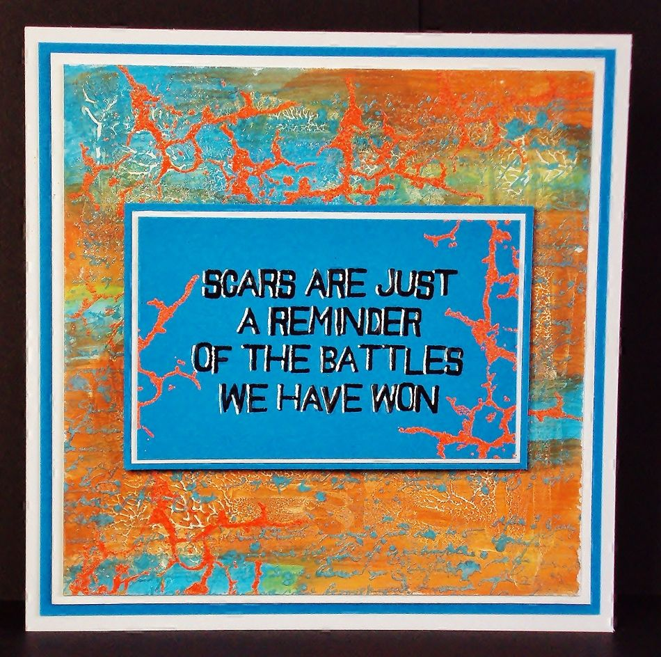 Scars   Visible Image - created by Pauline Butcher - inspiring quote stamp - cracked background stamp