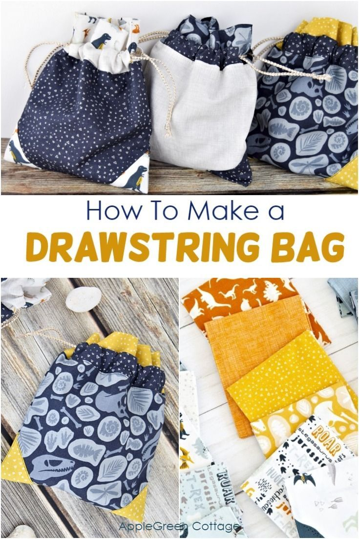 How To Make A Drawstring Bag - AppleGreen Cottage