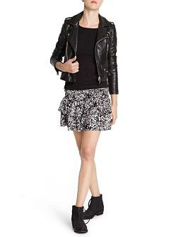 MANGO - CLOTHING - Skirts - Printed ruffle skirt