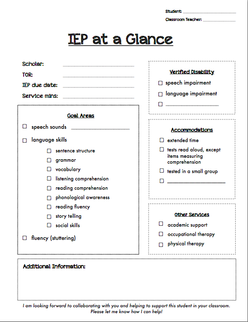 Pin by The Stepping Stones Group, LLC on IEPs/Goal Writing-SLP ...