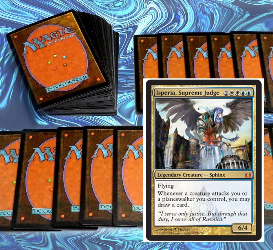 http://www.ebay.com/itm/mtg-RETURN-TO-RAVNICA-AZORIUS-DECK-blue-white-Magic-the-Gathering-rare-cards-/391194116542?ssPageName=STRK:MESE:IT