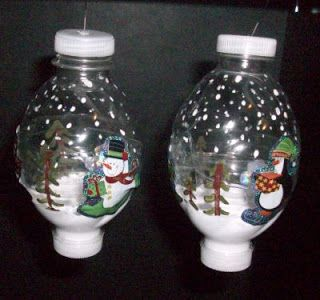 Water Bottle Ornaments Google Search Recycling Crafts