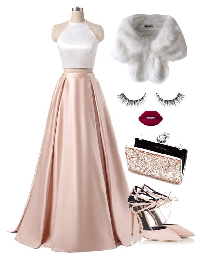 """Prom in Fur and Glitter"" by ruama-haine on Polyvore featuring moda, Fratelli Karida, Lime Crime e Miss Selfridge"