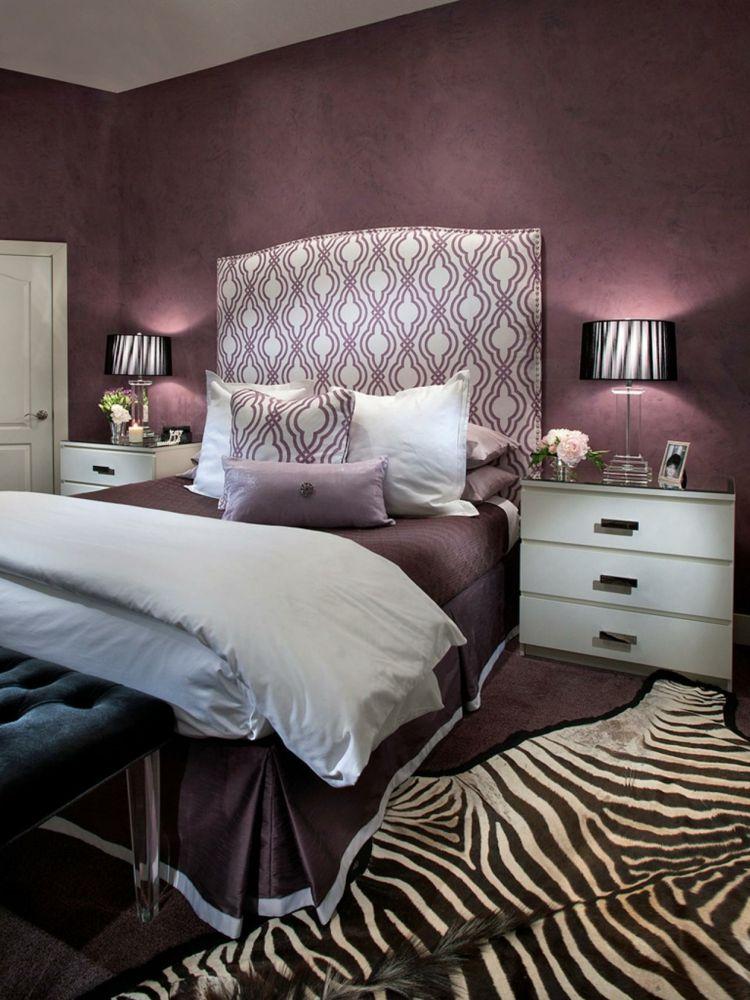 Farbgestaltung für Schlafzimmer – das geheimnisvolle Lila