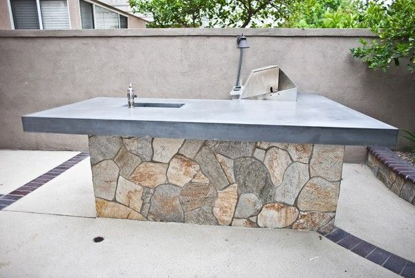 Custom Outdoor Portfolio By Concrete Wave Design Exterior Backyard Bbq Barbecue 1