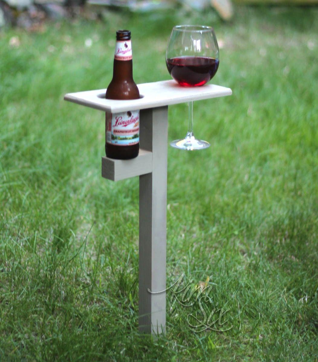 Diy outdoor drink stakes diy drinks diy outdoor beer