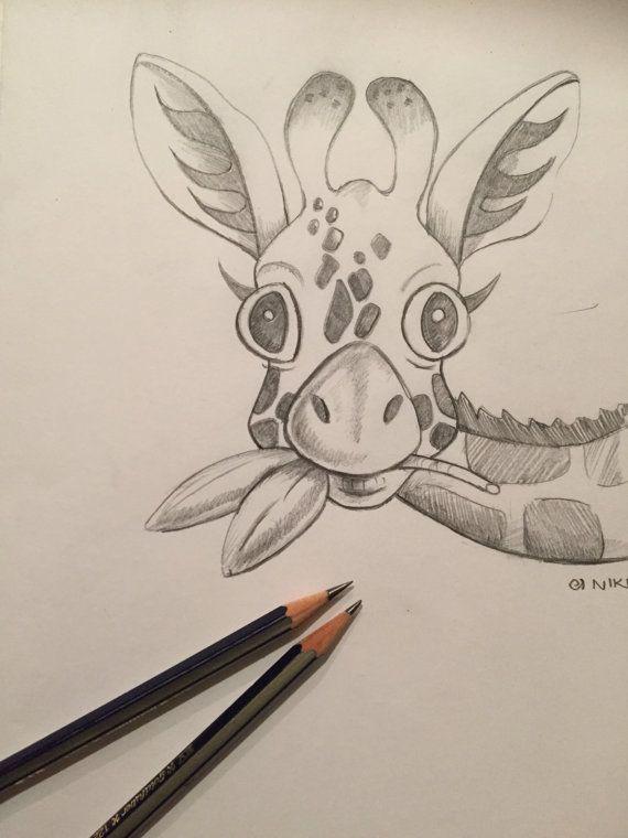 Baby giraffe sketch pr...