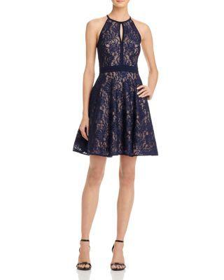 Aqua Lace Fit And Flare Dress Bloomingdales Hoco Pinterest