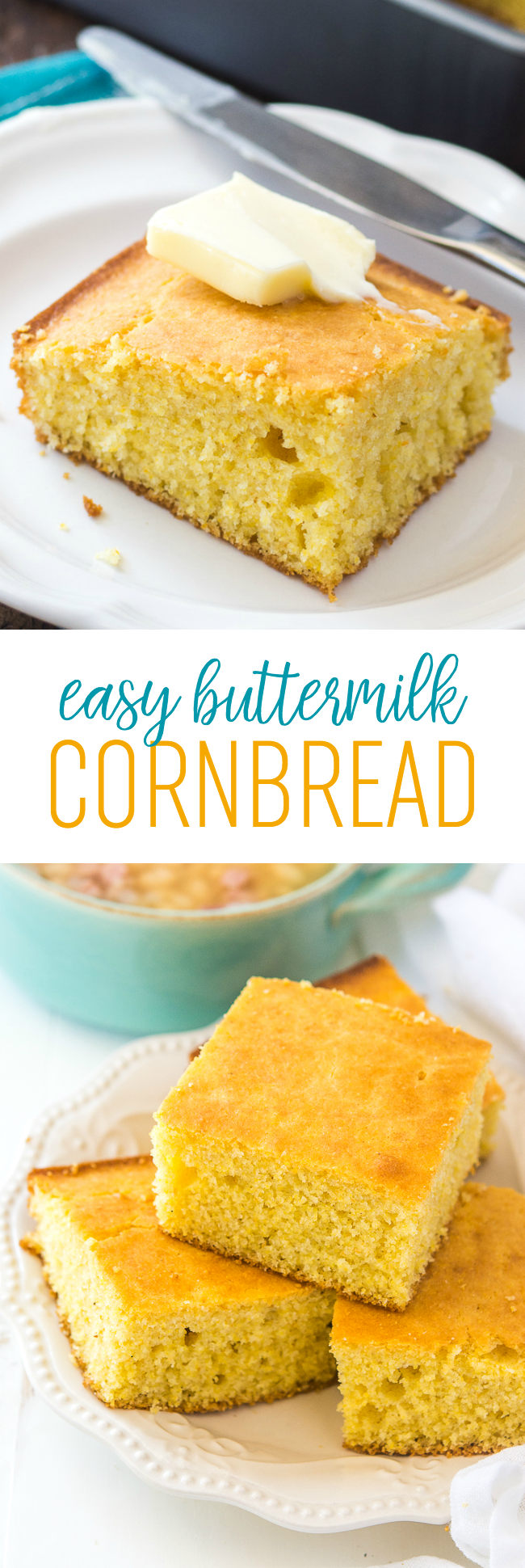 Easy Buttermilk Cornbread Recipe Homemade Sweet Cornbread Recipe Cornbread Recipe Sweet Sweet Cornbread Easy Buttermilk Cornbread