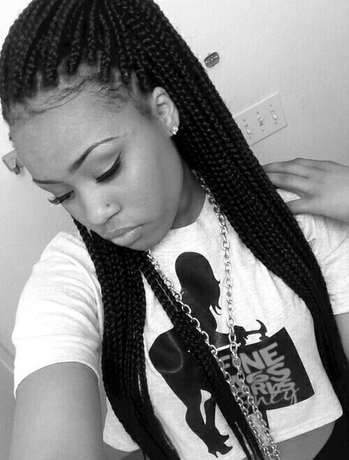 nose piercing and chain braided