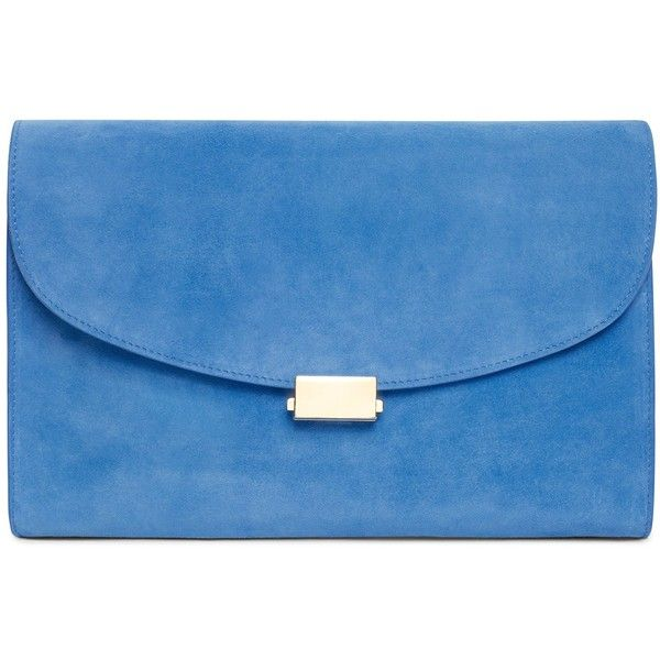 037d22612f01 Suede Flat Clutch ( 695) ❤ liked on Polyvore featuring bags ...