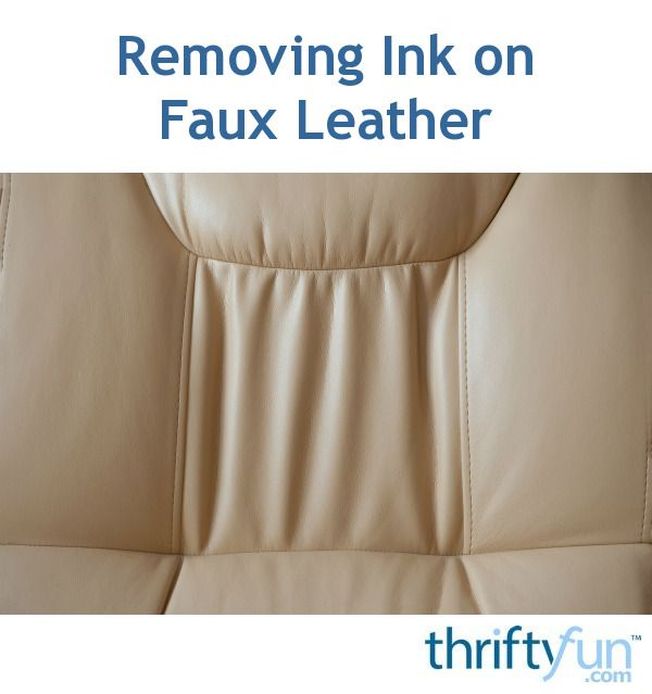 Care will need to be taken when trying to remove ink stains on