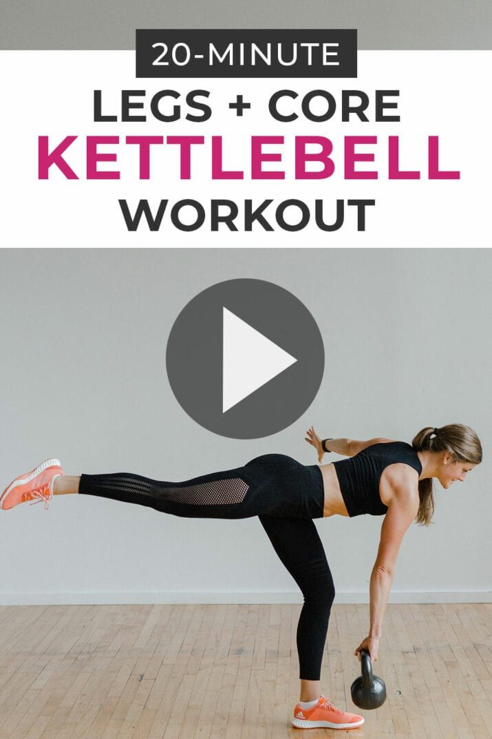 20-Minute Legs + Core Kettlebell Workout with adidas