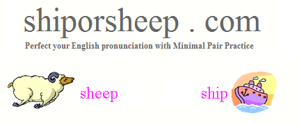 Practice (British) English pronunciation with minimal pairs