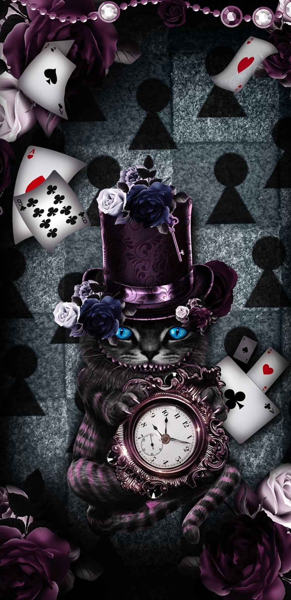 Wallpaper Lockscreen Iphone Android Cellphone Wallpaper Backgrounds Cheshire Cat Wallpaper Dark Alice In Wonderland