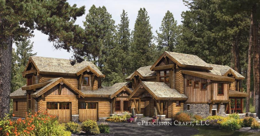 log+home | idlewild | hybrid log home design | architecture