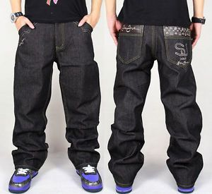 99 Hip Hop Men Simplicity Pants Retro Styles Pu Decorated Pocket Casual Jeans Hip Hop Jeans Mens Outfits Casual Jeans