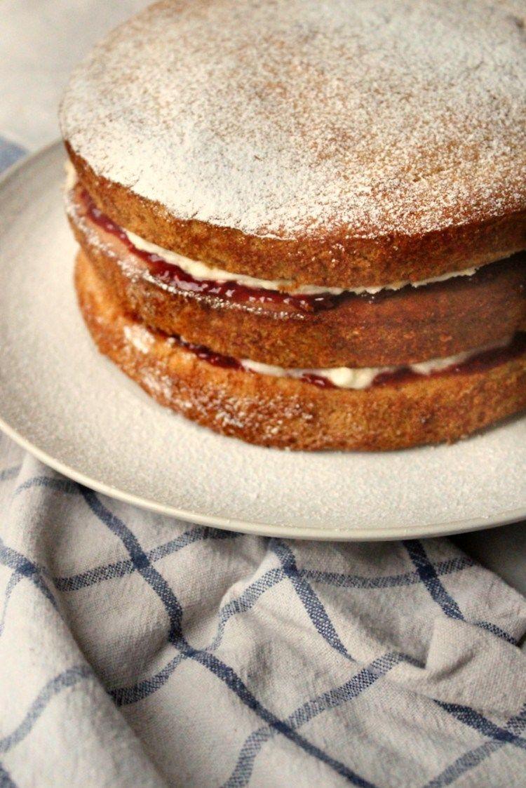 Vegan Victoria Sponge Cake The Compassion Kitchen Recipe Vegan Victoria Sponge Victoria Sponge Cake Vegan Buttercream