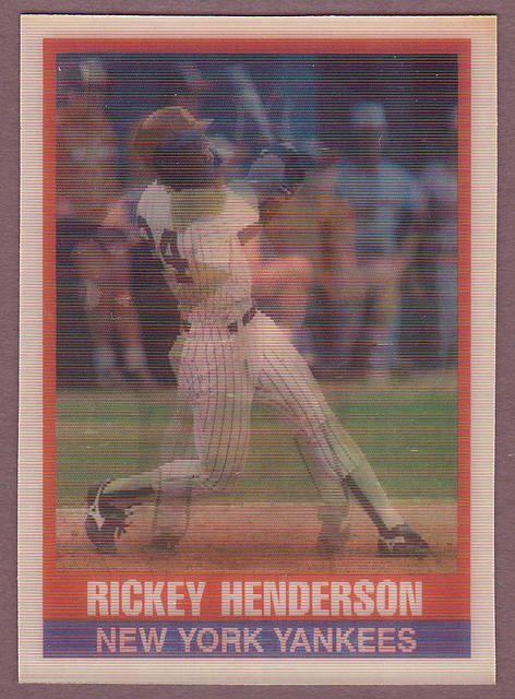 Sportflics Baseball 1989 Sportflics 145 Rickey Henderson Rickey