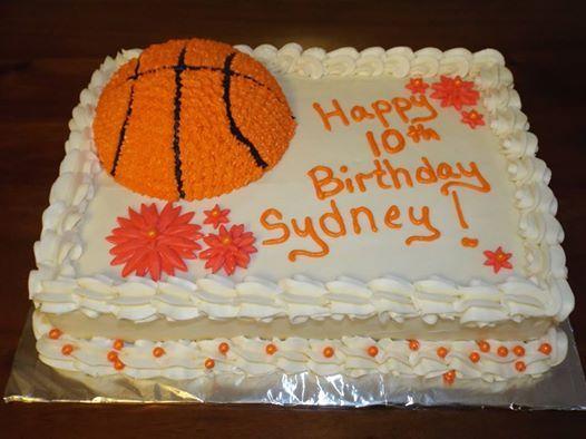 Basketball Birthday Cakes for Girls basketball girl birthday