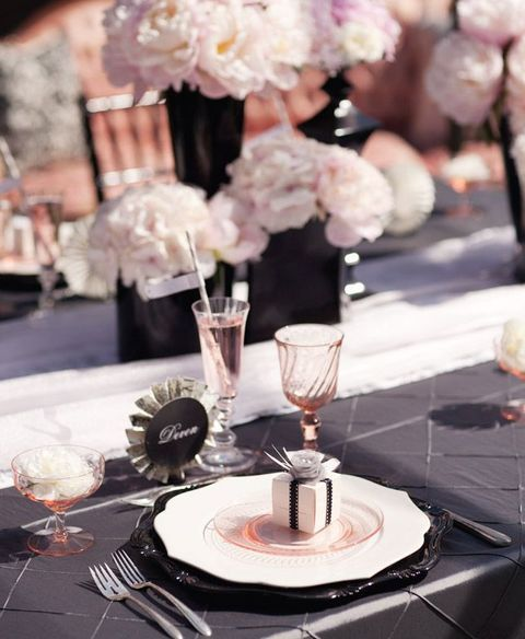 Pink And Black Wedding Ideas: 45 Flirty Blush And Black Wedding Ideas