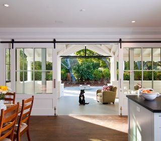 Photo From Houzz App Lovely Sliding Doors That Lead To The