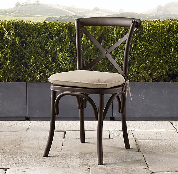 Madeleine Metal Dining Chair 115 Restoration Hardware Cast Aluminum