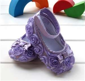 Purple Mary Jane Infant Baby Shoes