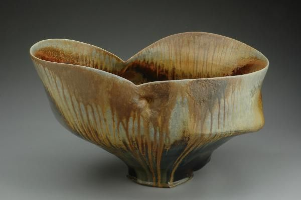Chris Gustin.  Vessel 0611.  13x23x18 inches, wood-fired stoneware
