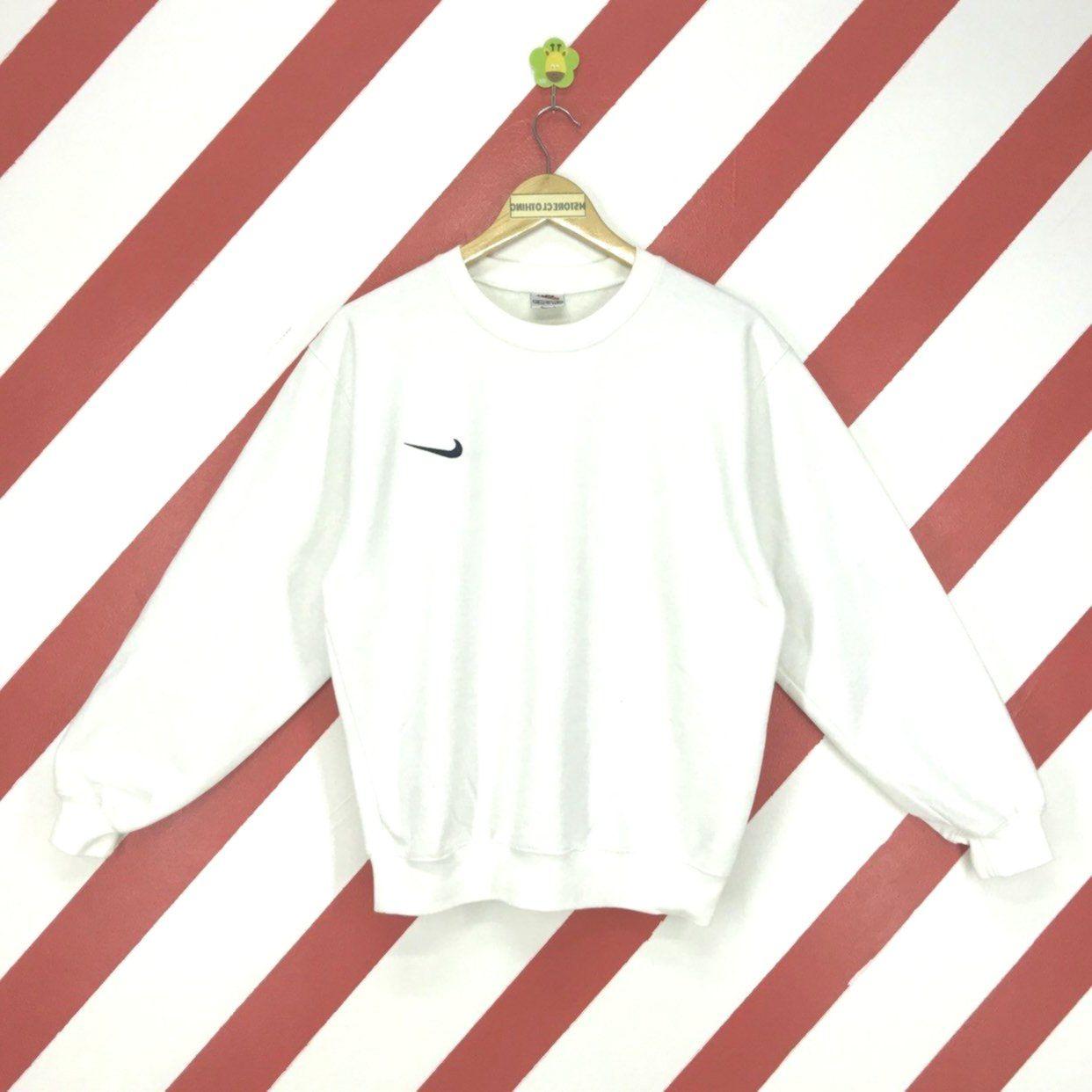 Vintage 90s Nike Sweatshirt Crewneck Nike Swoosh Pullover Nike Air Sportswear Jumper Nike Activewear Embroidery Logo [ 1242 x 1242 Pixel ]