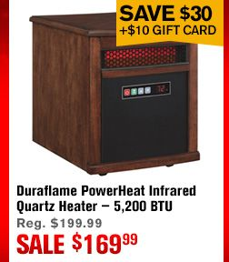 Duraflame Powerheat Infrared Quartz Heater 5 200 Btu Cherry