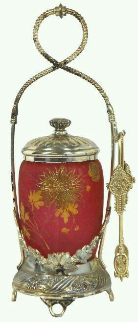 Gold flower pickle caster