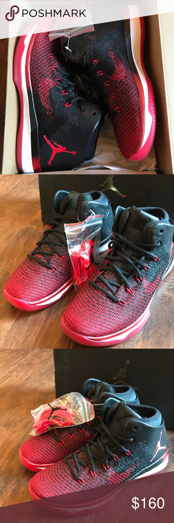 """Jordan 31 banned 6.5 youth sneakers red black nike New in box! Air Jordan 31  """"banned"""" sneakers. Size 6.5 youth. Will fit womens size 8. 7cbfac921c"""