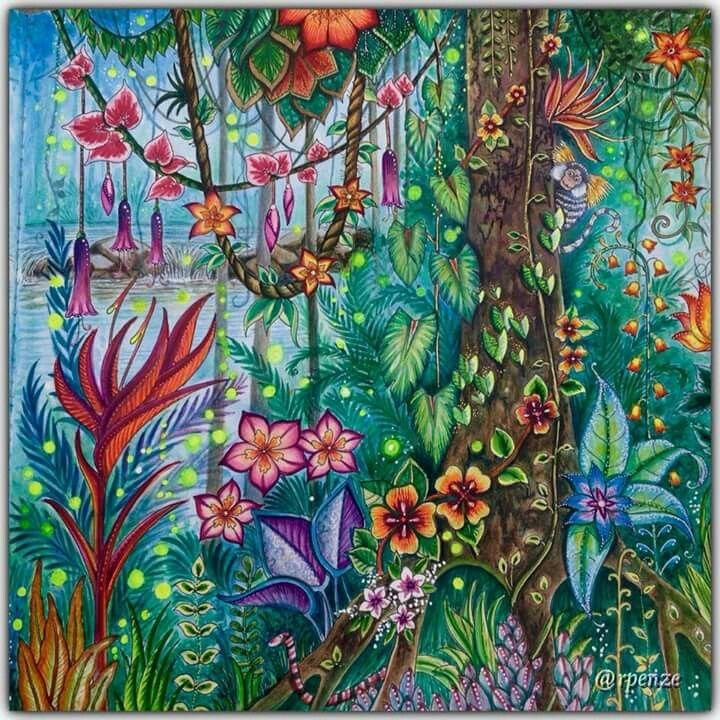 Pin By Juliana Lemos On Colored Enchanted Forest Coloring Enchanted Forest Coloring Book Johanna Basford Coloring Book