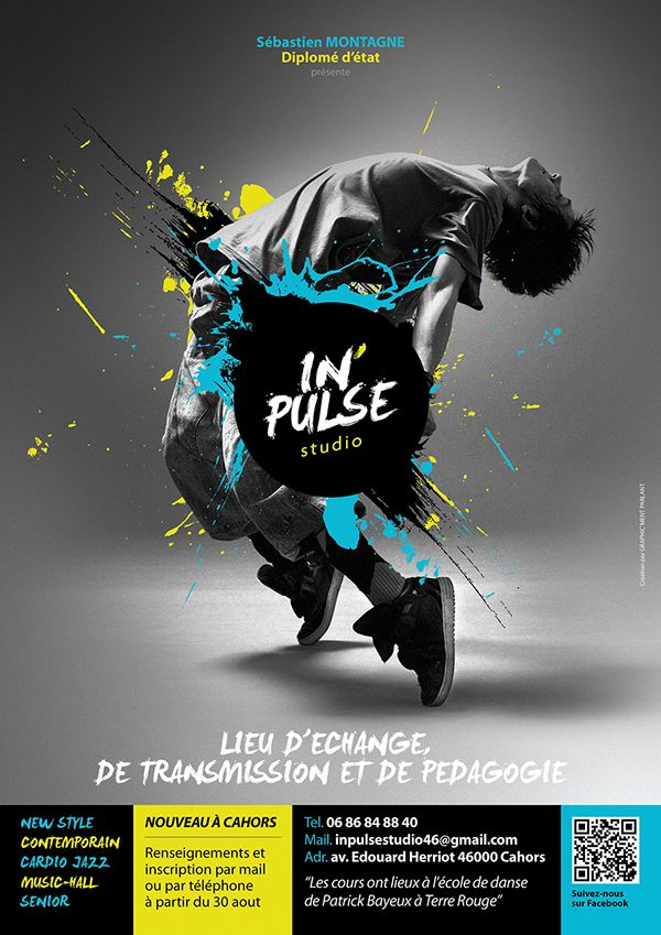 In Pulse Studio On Behance Dance Poster Design Graphic Design Class Graphic Design Posters