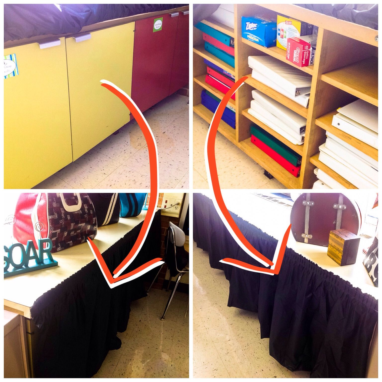 Quick Covers For Ugly Classroom Surfaces Plastic Pleated Table