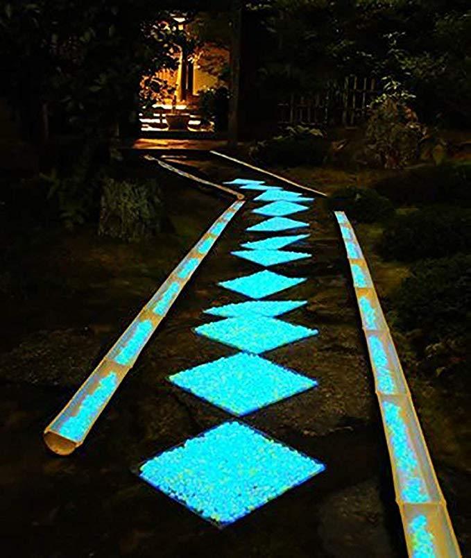 100~200 Stein Leuchtsteine Leuchtkiesel leuchtende Kiesel Aquarium Gehweg Garden