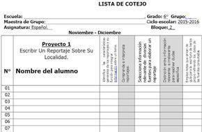 Listas De Cotejo De Todos Los Grados Materias Y Bloques De Educación Primaria Lista De Cotejo Preescolar Ficha De Observacion Rubrica De Evaluacion