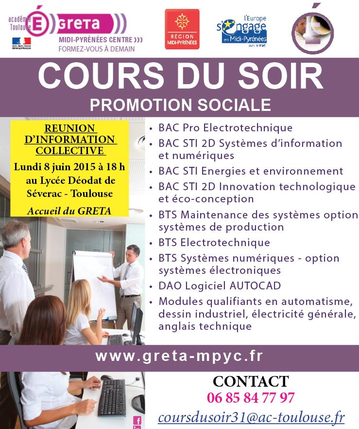 Formation En Cours Du Soir Au Greta Midi Pyrenees Centre Cours Du Soir Electrotechnique Midi Pyrenees